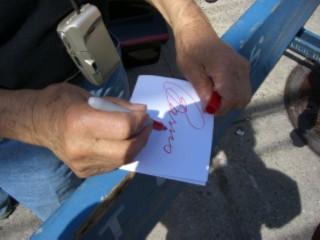 Barris autograph