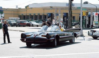 Batmobile moving