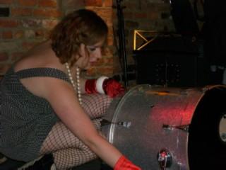 GDC Liz drum setup